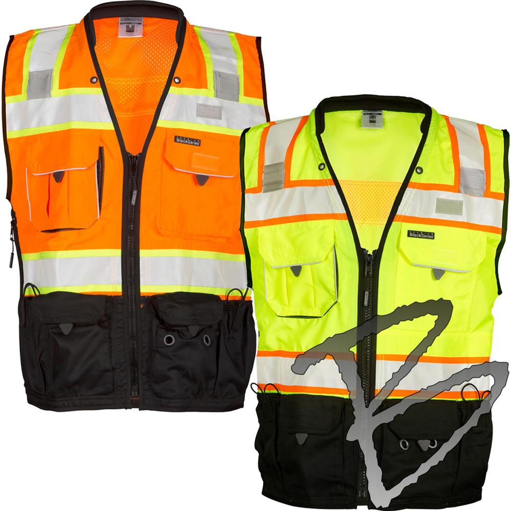 5e6c59e3f25 ML Kishigo Black Series Surveyors Vest