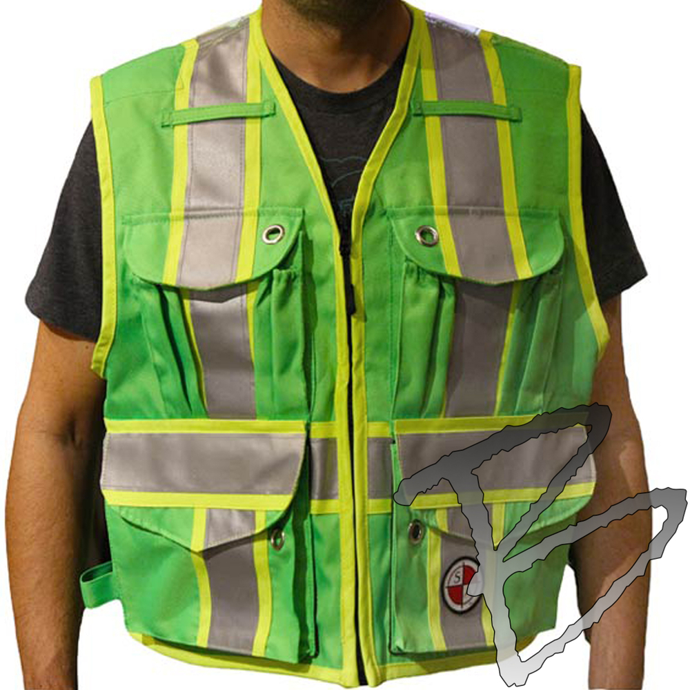 Safety Apparel Quot The Party Chief Quot Survey Vest Lime Green