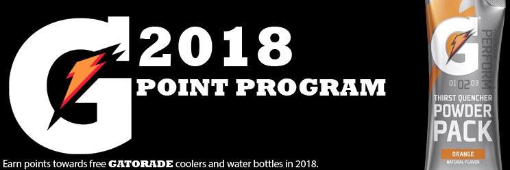 Gatorade 2018 Points program