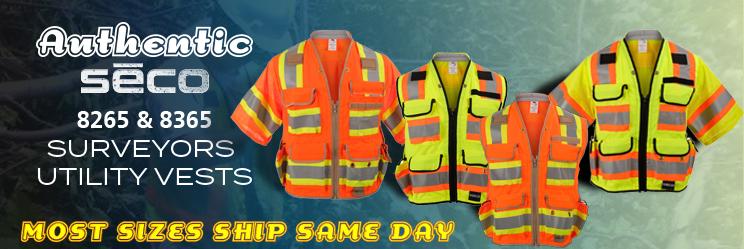 SECO 8265 & 8365 Surveyors Utility Vests