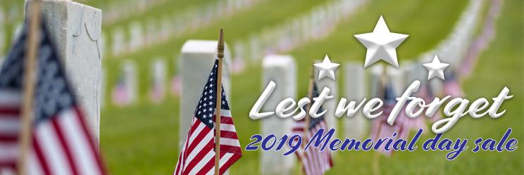 2019 Memorial day sale