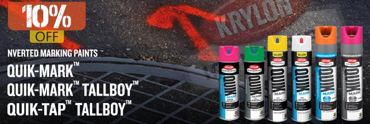 Save 10% on Krylon Inverted Marking Paints