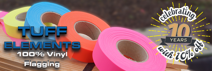 Save 10% on TUFF Elements Roll Flagging