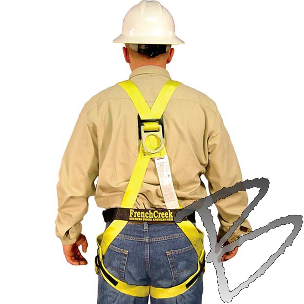 Construction Worker FULL BODY SAFETY HARNESS PPE D RING Belt Vest