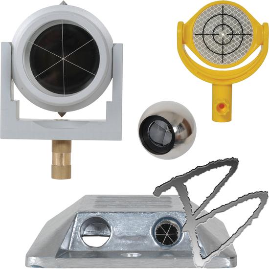 Prisms & Reflectors: Mini, L-Bar, Tilting, Holders