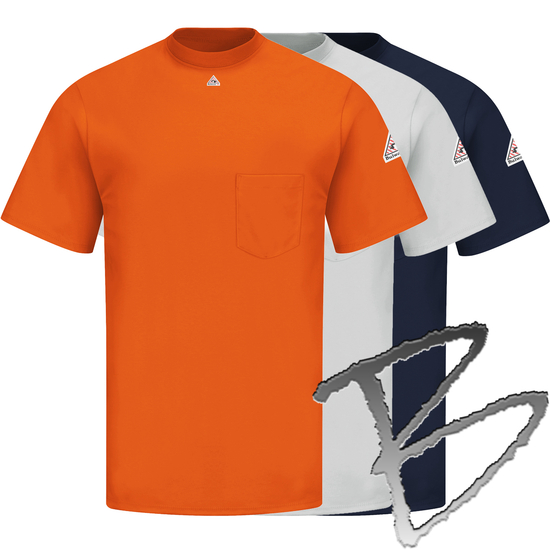 Flame resistant protective apparel bulwark tagless t shirt for Bulwark flame resistant shirts