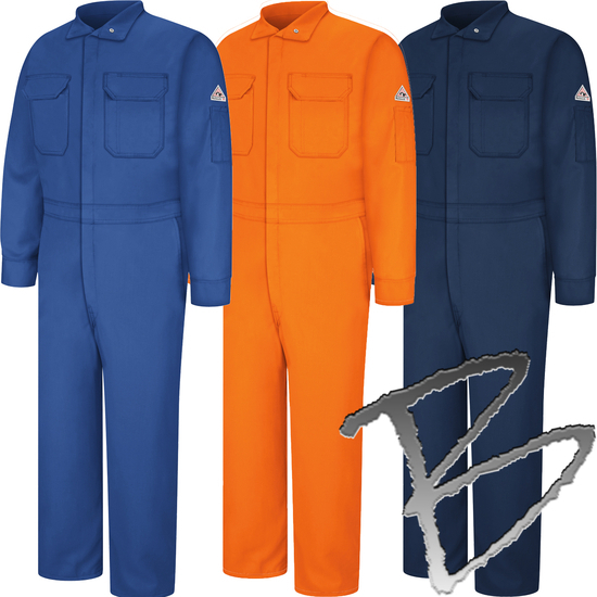 Bulwark Flame Resistant 5.8 oz Cooltouch 2 Long Deluxe Coverall with Conceale…
