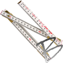 Image Lufkin 2M Wood Folding Ruler