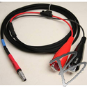 Image GPS Power Cable, 7 Pin #0 Lemo to Large Alligator Clips