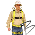 Image FCP Full Body Harness, Shoulder & Back D-Rings, Tongue Buckle Leg Straps