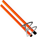 Image Dicke Safety Products 5-ft Orange ABS Staff Extension for Stop/Slow paddles