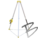 Image FCP Confined Space Tripod System w/Self-Retracting 50' Galvanized Wire Rope