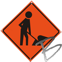 Image Dicke Safety Products Mesh Roll Up Road Sign Replacement Face