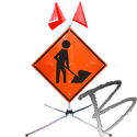 Image Complete Roll-Up Road Signs