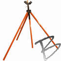 Image Dicke Safety Products 3-legged HD Tripod Sign Stand & Roll-up Sign Adapter