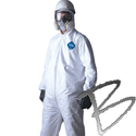 Image Dupont Tyvek Coveralls; Attached Hood, Elastic Wrist & Ankles, 25 per Box