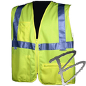 Image Dicke Safety Products Class 2 Safety Vest, Lime Solid