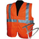 Image Dicke Safety Products Class 2 Safety Vest, Orange Solid