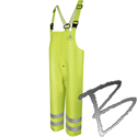 Image Bulwark FR Hi-Visibility Flame-Resistant Rain Bib Overall, 10oz