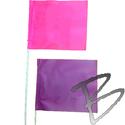 Image 4 x 5 Flag, PVC Plastic Staff