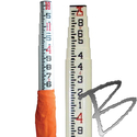 Image Fiberglass Leveling Rods
