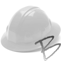 Image Pyramex Hard Hat, Full Brim, 6 Pt Ratchet and Parts