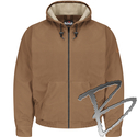 Image Bulwark FR Brown Duck Hooded Jacket - EXCEL FR® ComforTouch®