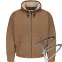 Image Bulwark FR Brown Duck Hooded Jacket - EXCEL FR® ComforTouch®