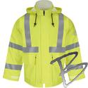 Image Bulwark FR Hi-Visibility Flame-Resistant Rain Jacket, 10oz