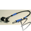 Image Power Cable; Dual Camcorder to Trimble, Lemo 7pin #0 to Camcorder clips