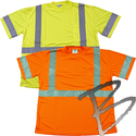 Image Dicke Safety Products T-Shirt Class 3, Silver Stripes w/ Pocket