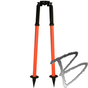 Image Sokkia Mini Thumb Release Economy Series Mini Bipod, Flo Orange