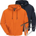 Image Bulwark FR Zip-Front Hooded Sweatshirt - FR Cotton/Spandex Blend
