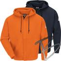 Image Bulwark FR Zip-Front Hooded Sweatshirt - FR Cotton/Spandex Blend