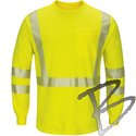 Image Bulwark FR Hi-Vis FR Lightweight Long Sleeve T-Shirt, Lime