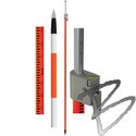 Image SECO Geodimeter Style Prism Pole with Site Rod