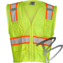 Image ML Kishigo Ultra-Cool Mesh 6-pocket Class 2 Vest, Lime