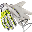 Image HexArmor Leather Impact 4080, Leather + Cut A8 Palm, Impact Protection