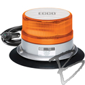 Image ECCO Reflex LED Beacon, SAE Class I, Amber Dome, Vacuum-Magnet Mount, Amber LED