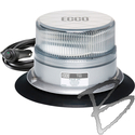 Image ECCO Reflex LED Beacon, SAE Class I, Clear Dome, Amber LED, Vacuum-Magnet Mount