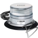 Image ECCO Reflex LED Beacon, SAE Class I, Clear Dome, Amber LED, Vacuum-Magnet Mount
