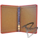 Image Bogside Publishing Mini Cloth 6 Ring Binder, 1/2