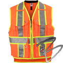 Image Safety Apparel Summer Survey Vest, Orange