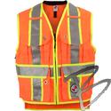 Image Safety Apparel Summer Survey Vest, Orange