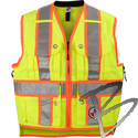 Image Safety Apparel Summer Survey Vest, Yellow