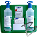 Image A-Med Eyewash Station, 2-pack 32oz Bottles, w/ Eye-opener & Replacement Bottles