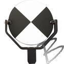 Image SECO Adjustable Tilting Target, Black & White, 6-inch