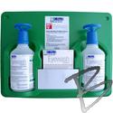Image A-Med Eyewash Station, 2-pack 16oz Bottles, w/ Eye-opener & Replacement Bottles