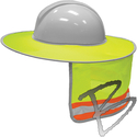 Image Kishigo Full Brim Sun Shield, Lime, 6-Pack