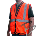 Image Dicke Safety Products Class 2 Surveyors Vest, Mesh Top, Solid Bottom